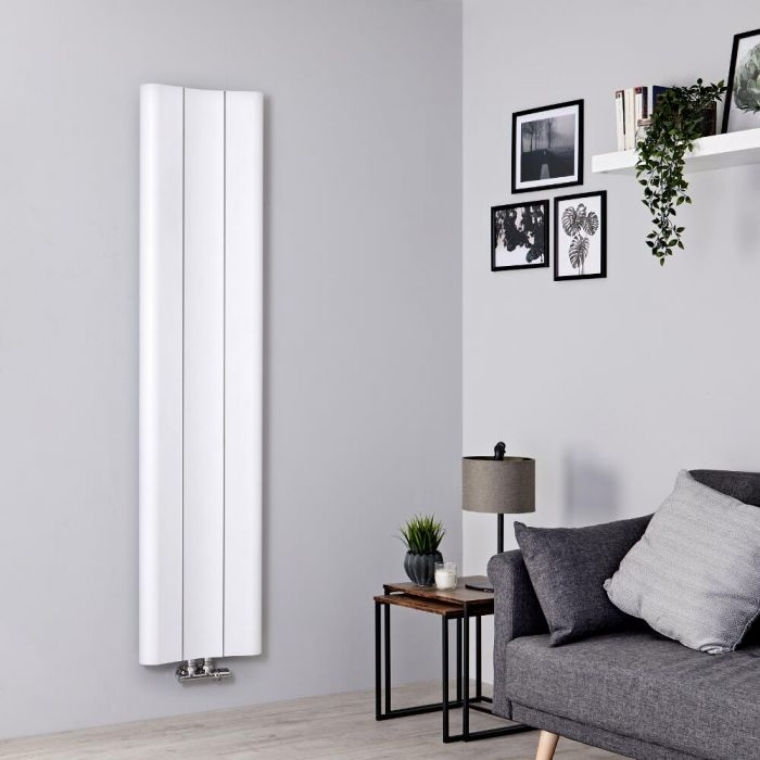 Designradiator Verticaal Aluminium Wit 160 x 37cm 869Watt | Aloa