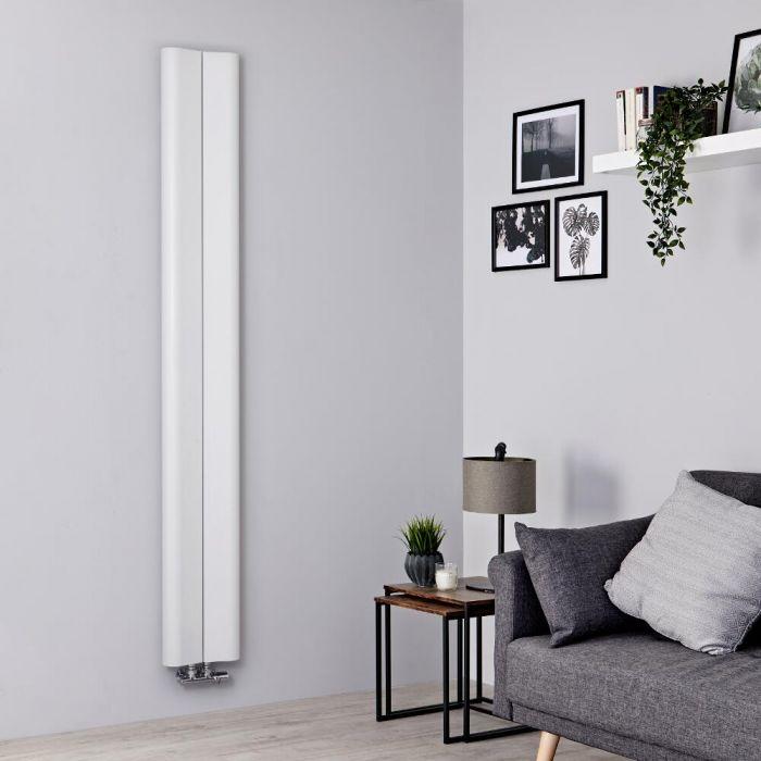Designradiator Verticaal Aluminium Wit 180 x 24,5cm 652Watt   Aloa