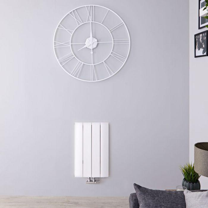 Designradiator Horizontaal Aluminium Middenaansluiting Wit 60cm x 37,5cm 461 Watt | Aurora