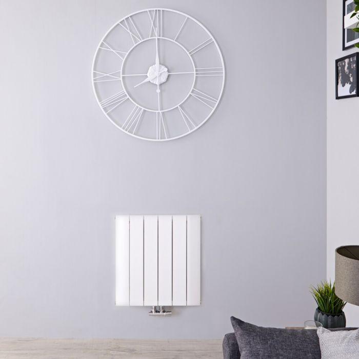 Designradiator Horizontaal Aluminium Middenaansluiting Wit 60cm x 56,5cm 692 Watt | Aurora