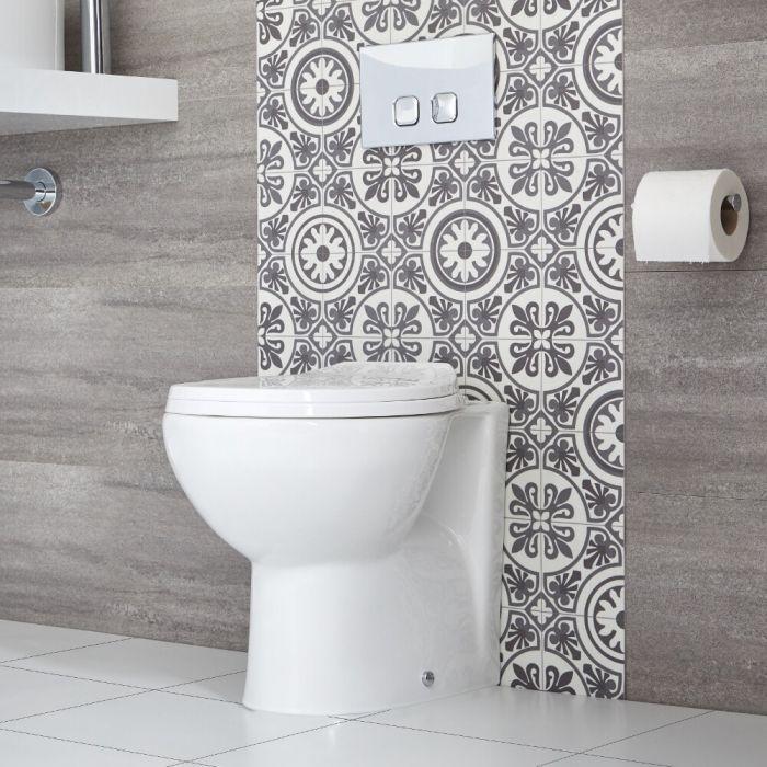 Toilet Staand Keramisch Rond Incl Zachtsluitende WC Bril   Select