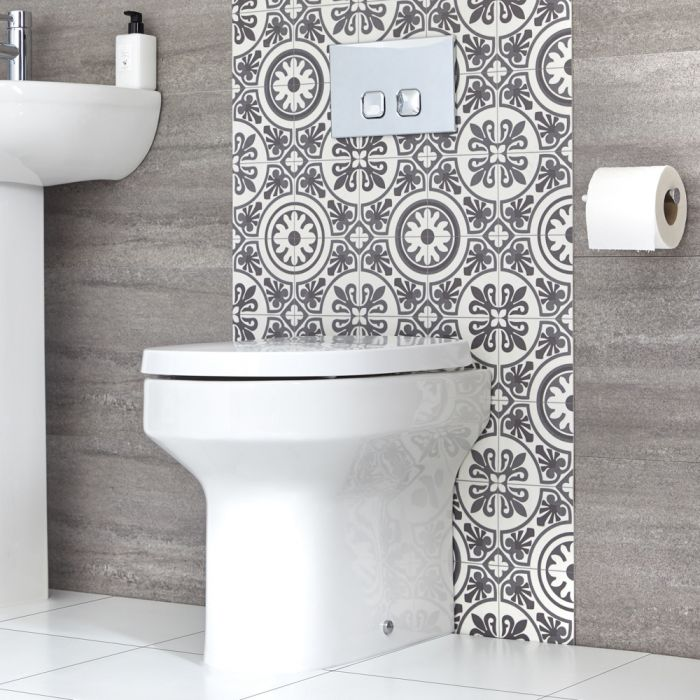 Toilet Staand Keramisch Incl Zachtsluitende WC Bril | Covelly