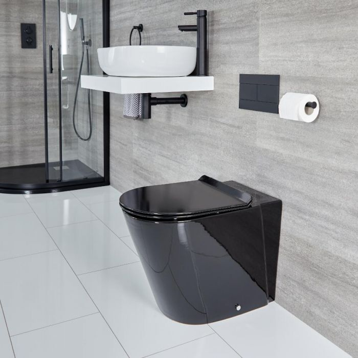 Toilet Staand Rond Zwart | Nox