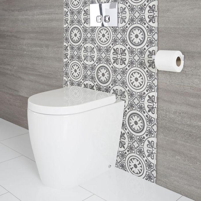 Staand Keramisch Toilet Ovaal Incl Zachtsluitende WC Bril | Otterton