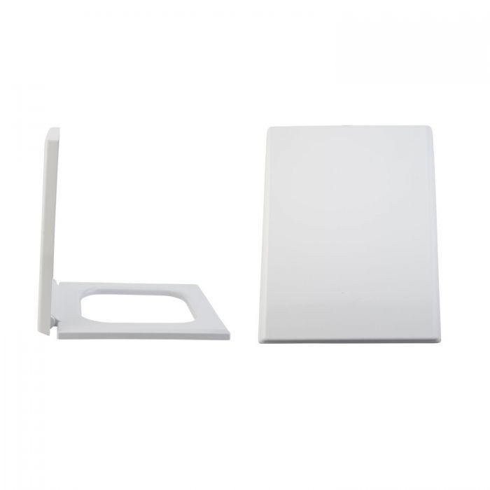 Duroplast Zachtsluitende Toiletbril Easy Fix &  Bovenaansluiting | Haldon