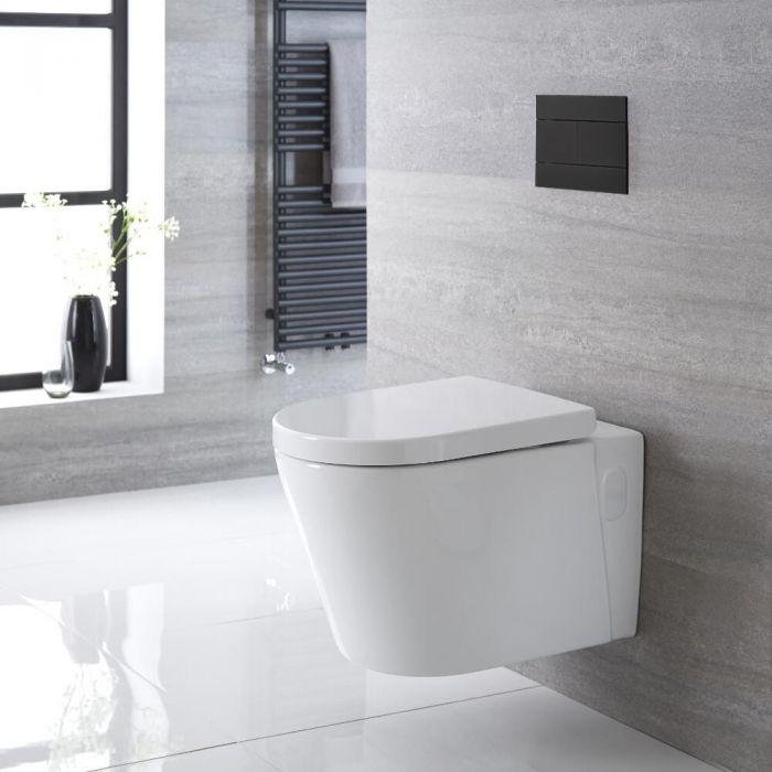 Hangend Keramisch Toilet Randloos incl. WC-Bril Ovaal Wit | Exton