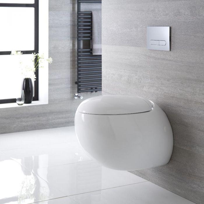 Toilet Hangend Keramisch met Soft-Close WC-Bril Wit | Langtree