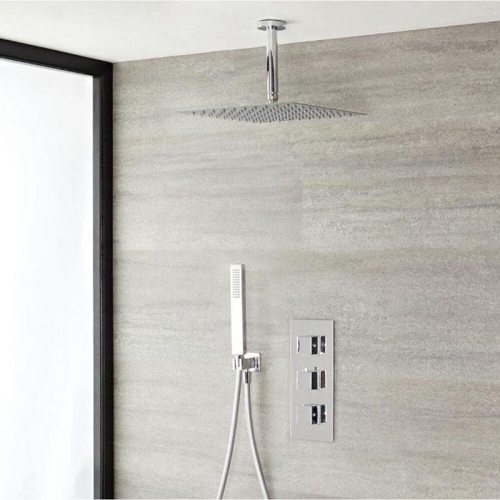 2-weg thermostatisch doucheset zonder omstelkraan (douchekop 30 x30cm) | Kubix