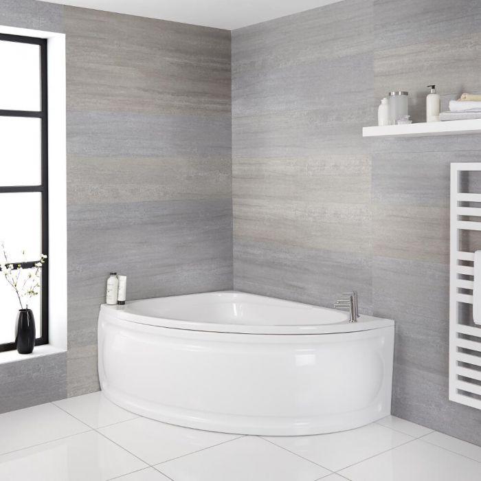 Hoekbad met Zitje - Linker Uitvoering - 150cm x 102cm | Belstone