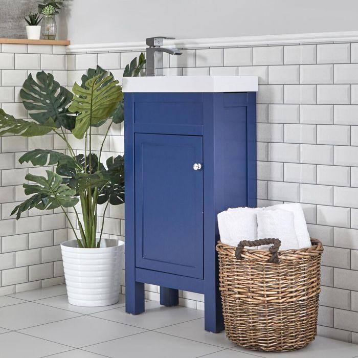 Wastafelmeubel met Wastafel 44cm Klassiek Marineblauw | Warwick