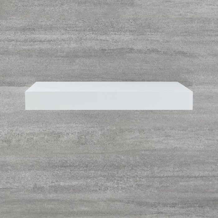 Zwevend Wastafelblad Wit 60cm | Cluo