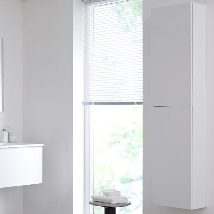 Badkamerkast Mat Wit 35  x 150cm - Newington