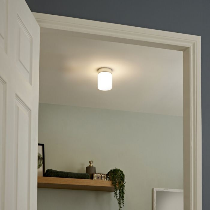 Tahoe LED Badkamer Plafondlamp d. 10cm  6W Chroom LED IP44
