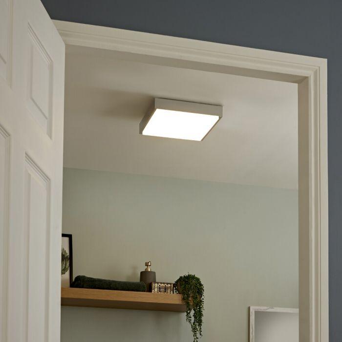 Zell 24W LED Badkamer Plafondlamp Vierkant 29 x 29cm