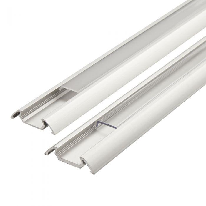 1 Meter Aluminium Slimline Profiel Voor Led Stripverlichting - Doorzichtig Of Mat
