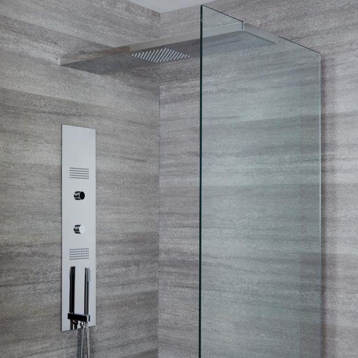 Narus 3-weg Thermostatisch Digitaal Inbouw Douchepaneel & Douchehemel 100cm
