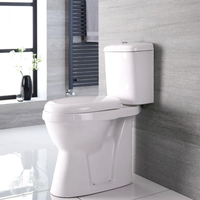 Invalidentoilet Duoblok 47cm Hoog Keramisch met Soft-Close WC-Bril   Select