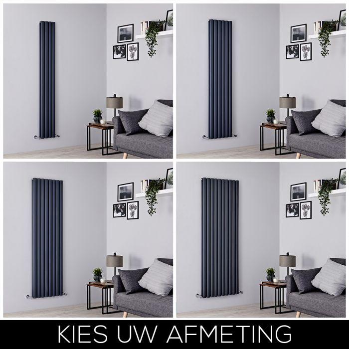 Designradiator Verticaal 180cm Aluminium Antraciet | Kies de Afmeting | Revive Air