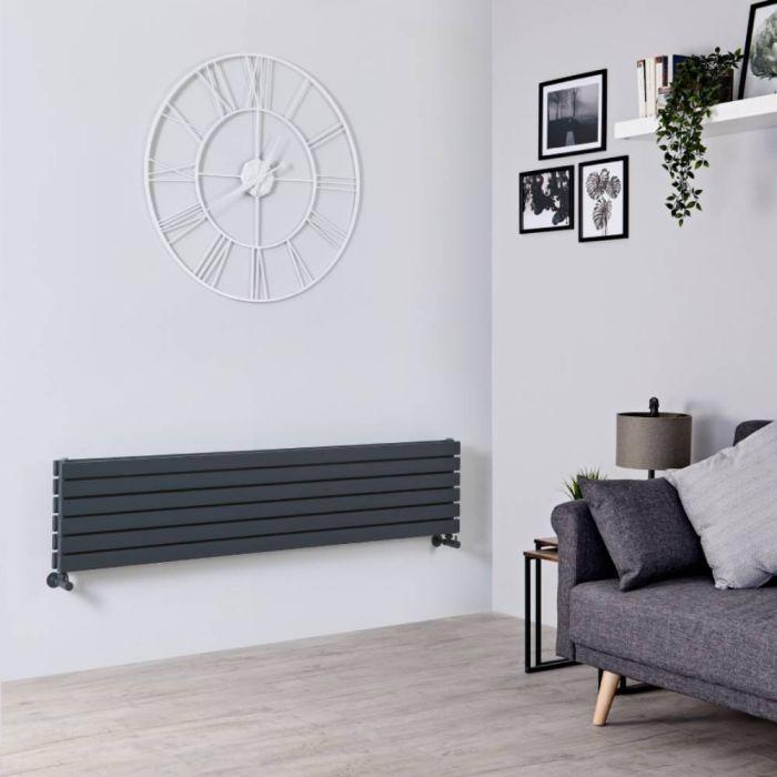 Sloane Designradiator Horizontaal Antraciet 35,4cm x 160cm x 7,4cm 1308 Watt