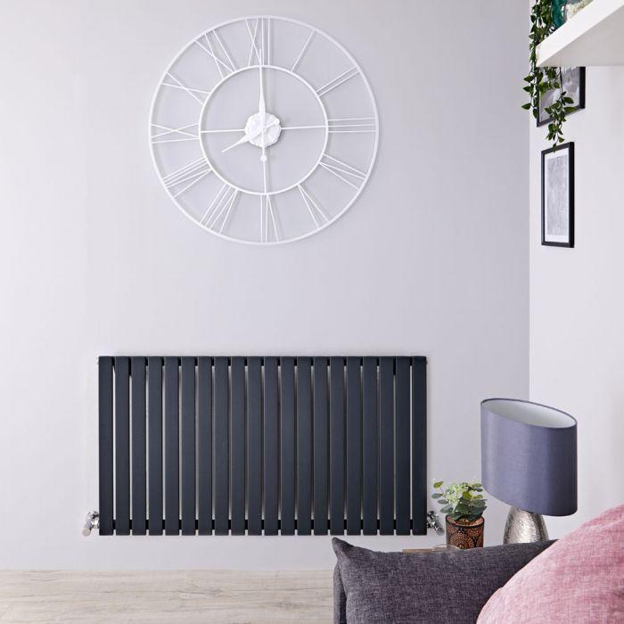 Sloane Designradiator Horizontaal Antraciet 63,5cm x 118cm x 5,3cm 1203 Watt