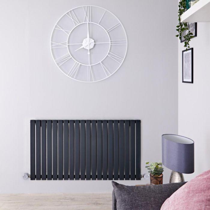 Designradiator Elektrisch Thermostatisch Horizontaal Antraciet 63,5cm x 118cm   Sloane