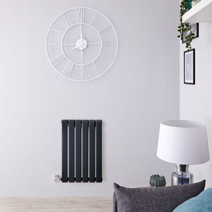 Designradiator Elektrisch Thermostatisch Horizontaal Antraciet 63,5cm x 42cm    Delta
