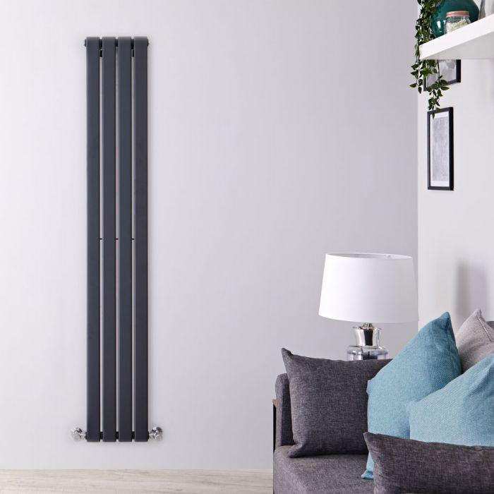 Delta Designradiator Verticaal Antraciet 160cm x 28cm x 4,7cm 586 Watt