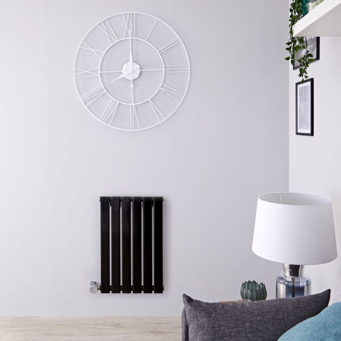 Designradiator Elektrisch Thermostatisch Horizontaal Zwart 63,5cm x 100cm | Delta