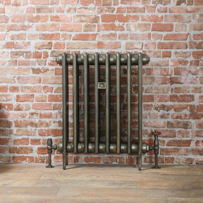 Gietijzeren Radiator Antiek Messing 66cm Hoog | Kies de Breedte | Victoria