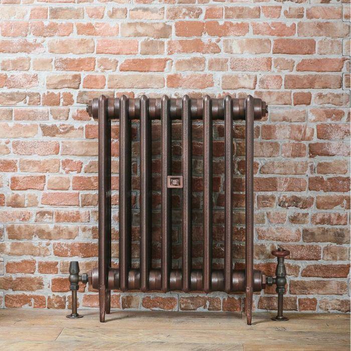 Gietijzeren Radiator Antiek Koper 66cm Hoog | Kies de Breedte | Victoria