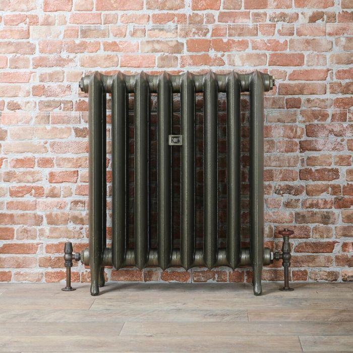 Gietijzeren Radiator Antiek Messing | 76cm Hoog x Kies de Breedte | Erté
