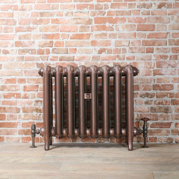 Gietijzeren Radiator Antiek Koper | 56cm Hoog x Kies de Breedte | Erté
