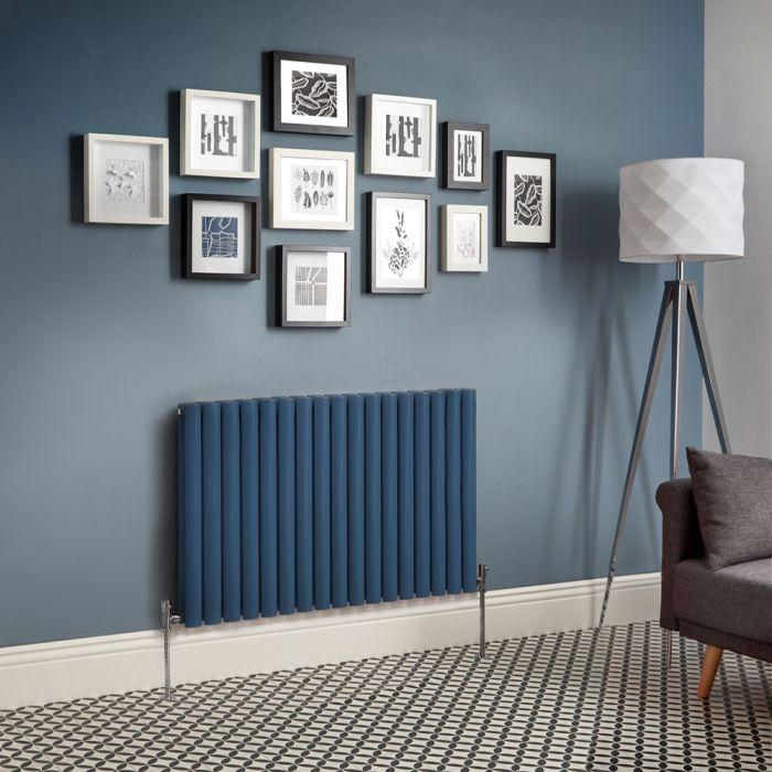 Designradiator Horizontaal Donkerblauw | Kies de Afmeting | Revive