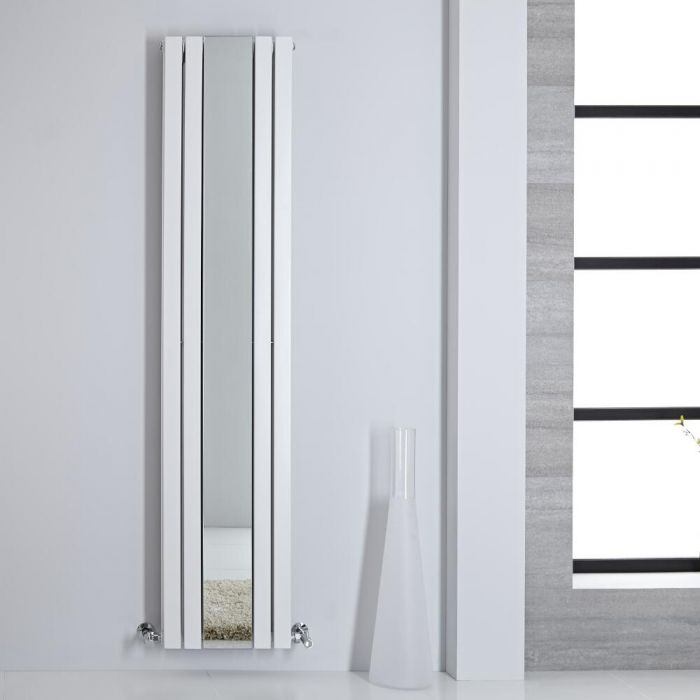 Sloane Spiegelradiator Verticaal Dubbelpaneel 180m x 38,5cm x 7,2cm Wit 1344Watt