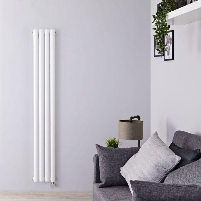 Designradiator Elektrisch Thermostatisch Verticaal Wit 160cm x 23,6cm | Revive