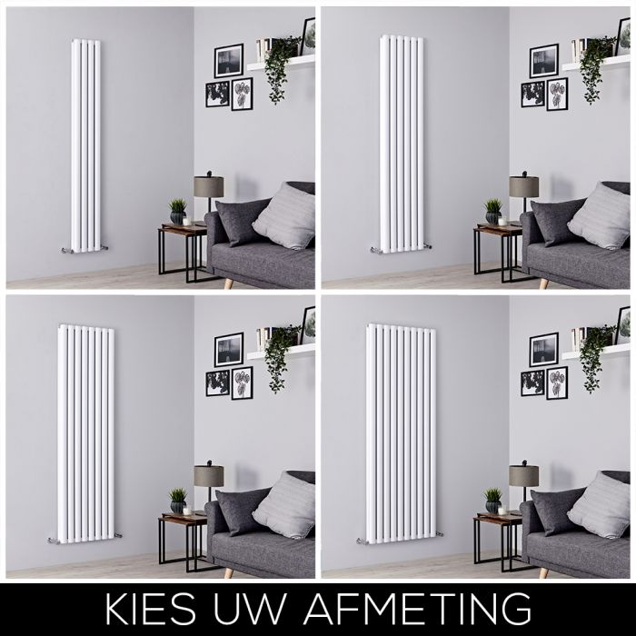 Designradiator Verticaal 180cm Aluminium Wit | Kies de Afmeting | Revive Air