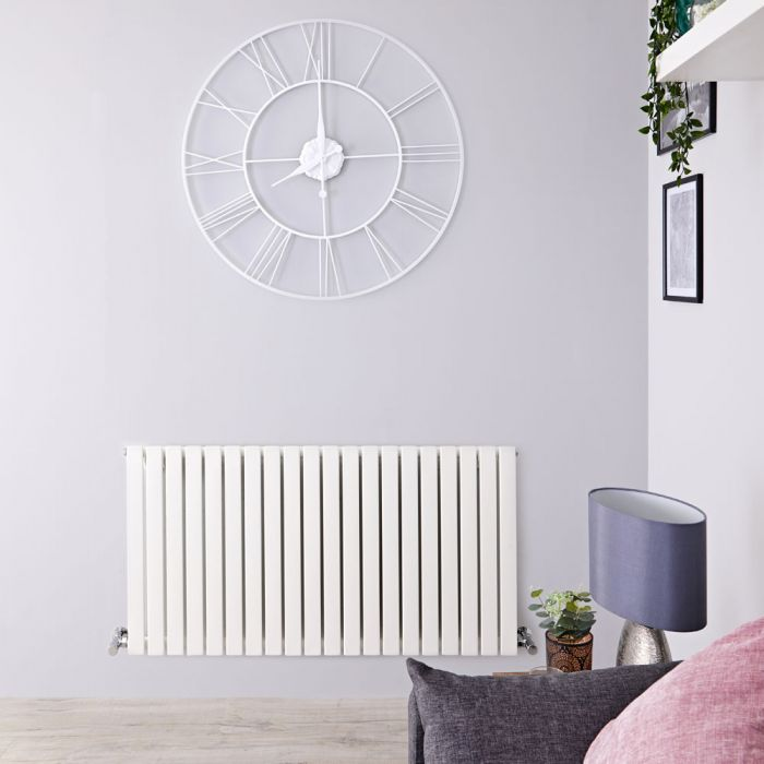 Designradiator Horizontaal Wit 63,5cm x 82,6cm x 5,4cm 841 Watt   Sloane