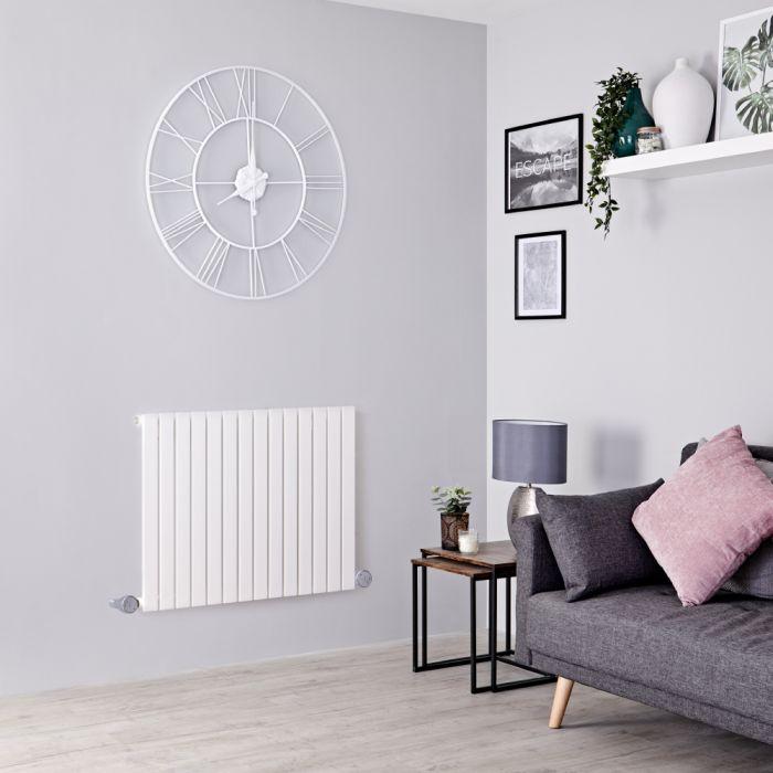 Designradiator Elektrisch Thermostatisch Horizontaal Wit 63,5cm x 118cm | Sloane