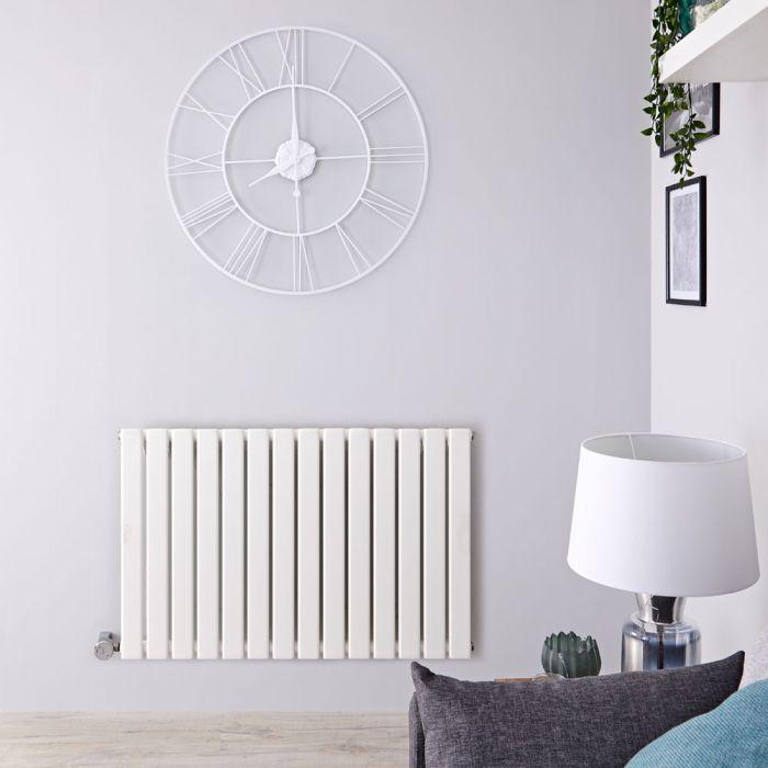 Designradiator Elektrisch Thermostatisch Horizontaal Wit 63,5cm x 98cm | Delta