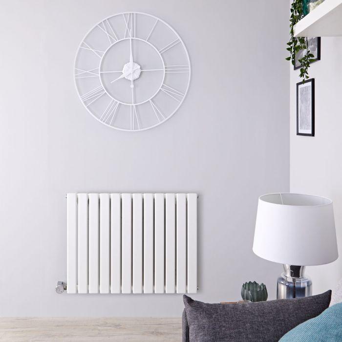 Designradiator Elektrisch Thermostatisch Horizontaal Wit 63,5cm x 84cm | Delta