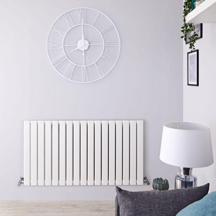 Delta Designradiator Horizontaal Wit 63,5cm x 119cm x 4,6cm 1064 Watt
