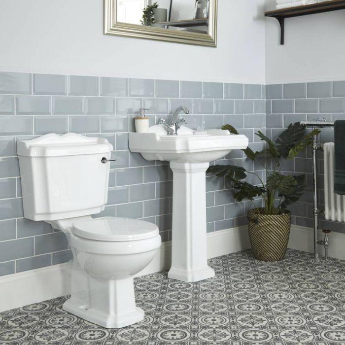 Klassiek Toilet en Wastafel 1 Kraangat Wit | Legend