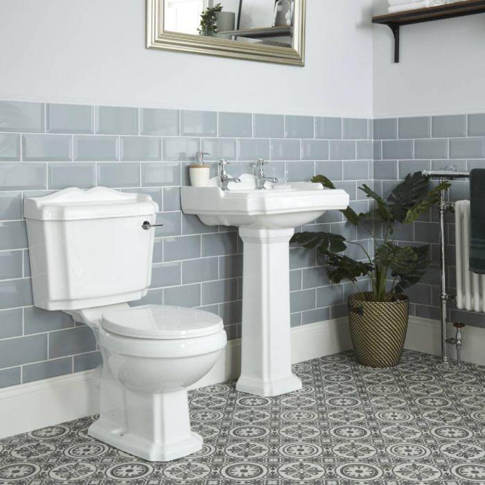 Toilet en Wastafel Staand Klassiek Wit   Legend