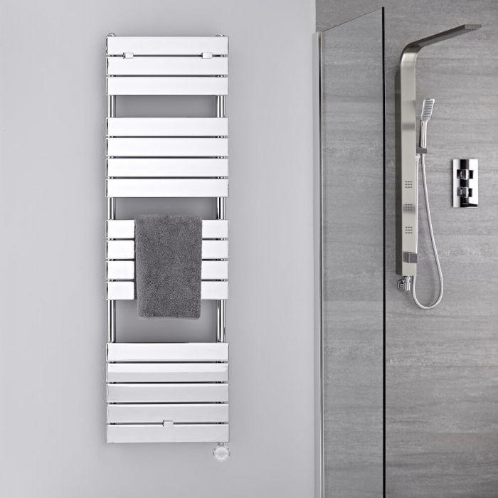 Handdoekradiator Elektrisch Thermostatisch Chroom 151cm x 45cm | Lustro