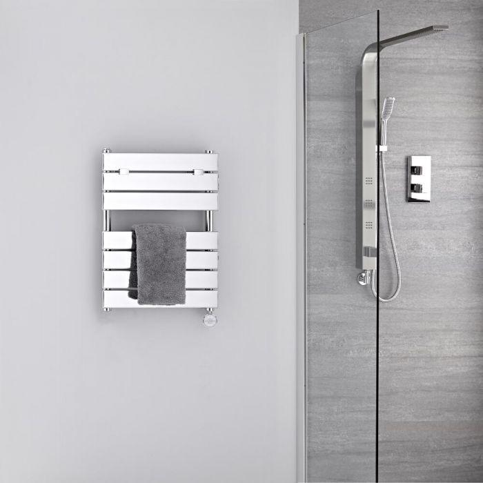 Handdoekradiator Elektrisch Thermostatisch Chroom 62cm x 45cm | Lustro