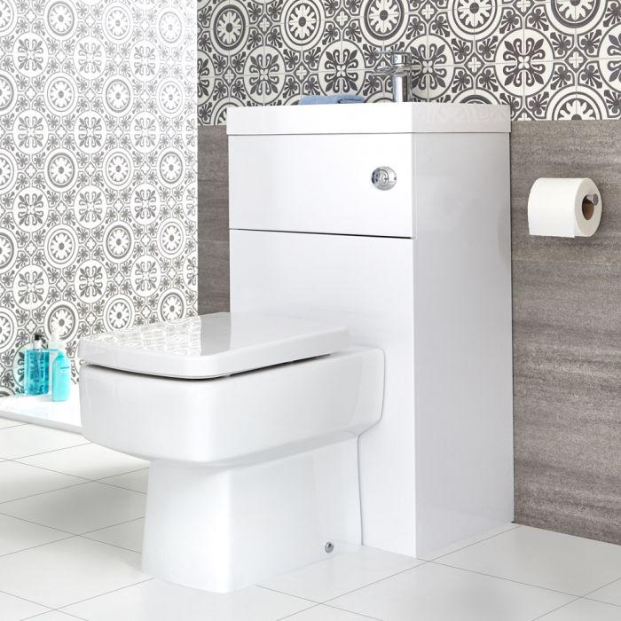 Vierkant Toilet met ingebouwde wastafel - 50cm x 86cm x 87,5cm