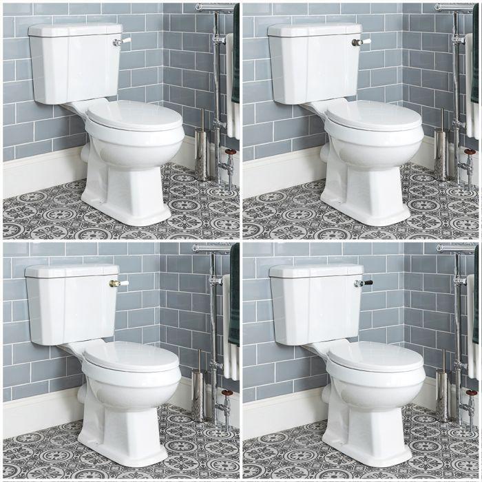 Duoblok Toilet Klassiek met Zachtsluitende WC Bril Wit   Kies de Doortrekhendel   Richmond