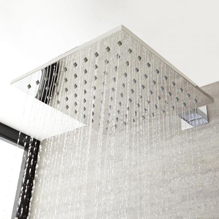 Vierkante RVS Hoofddouche 30x30cm | Kubix