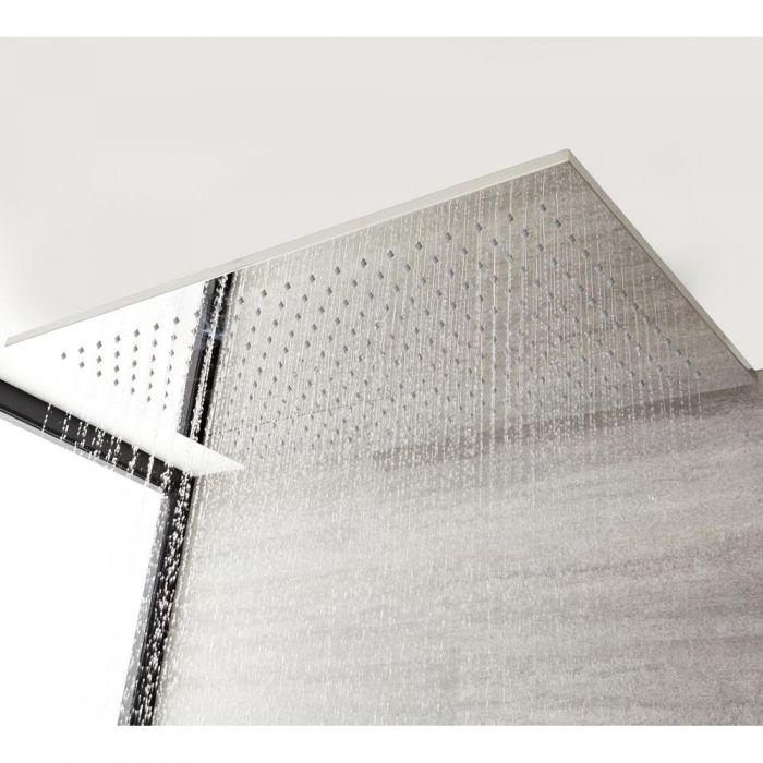 Inbouw Douchekop Plafond Messing Chroom 80 x 50cm | Kubix