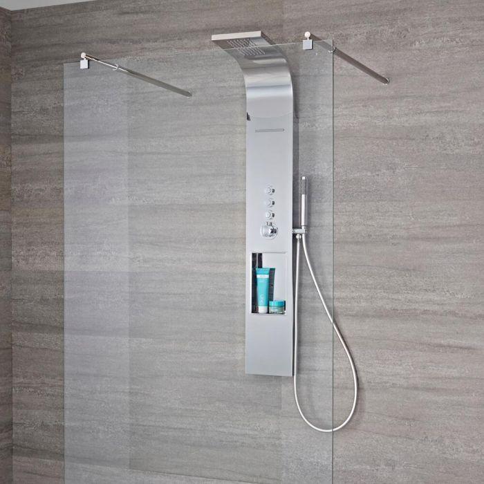 Douchepaneel 3-Weg Thermostatisch met Douchekop, Waterval en Handdouche Chroom | Vista